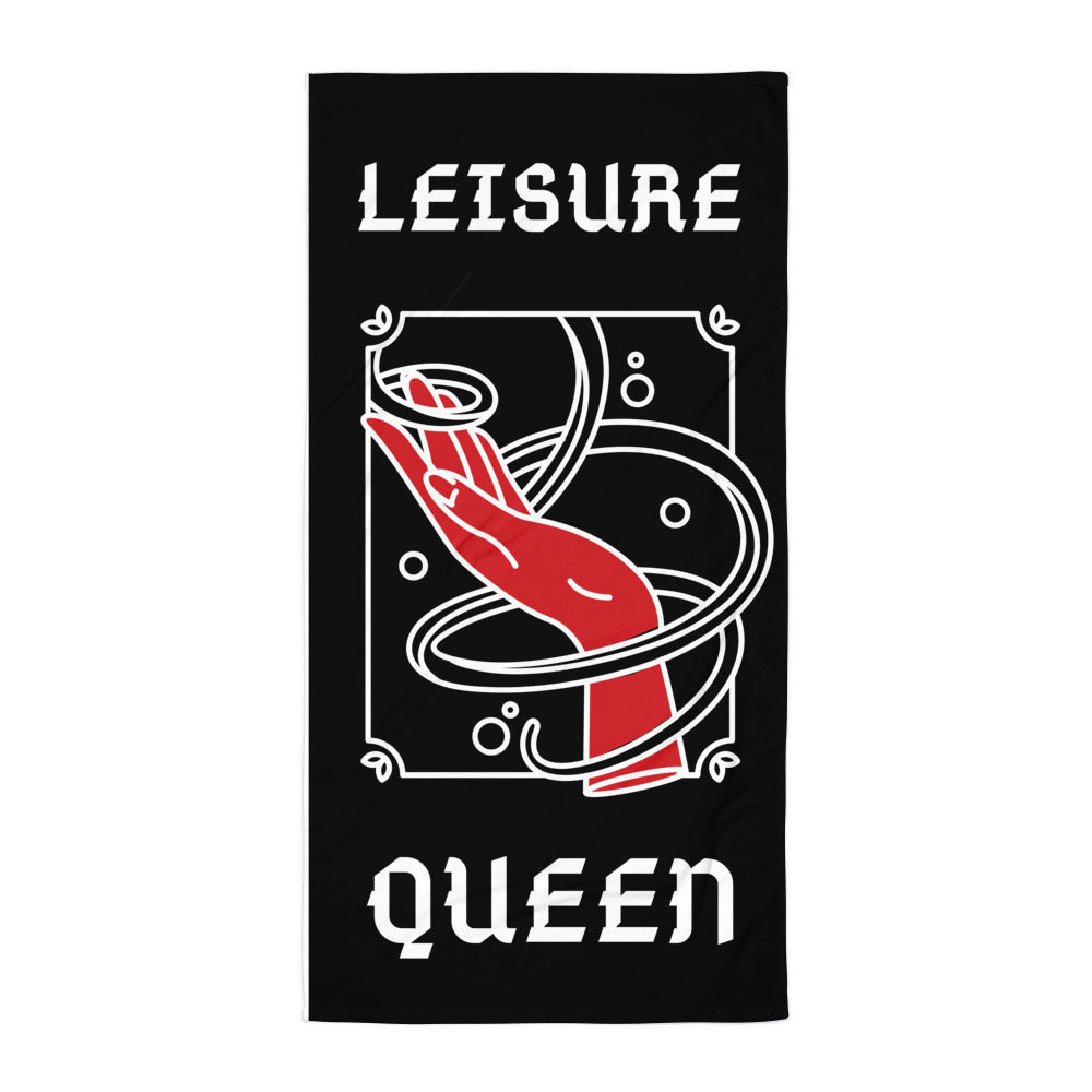 Leisure Queen Beach Towel | Dog & Shark | Funny Gift Ideas