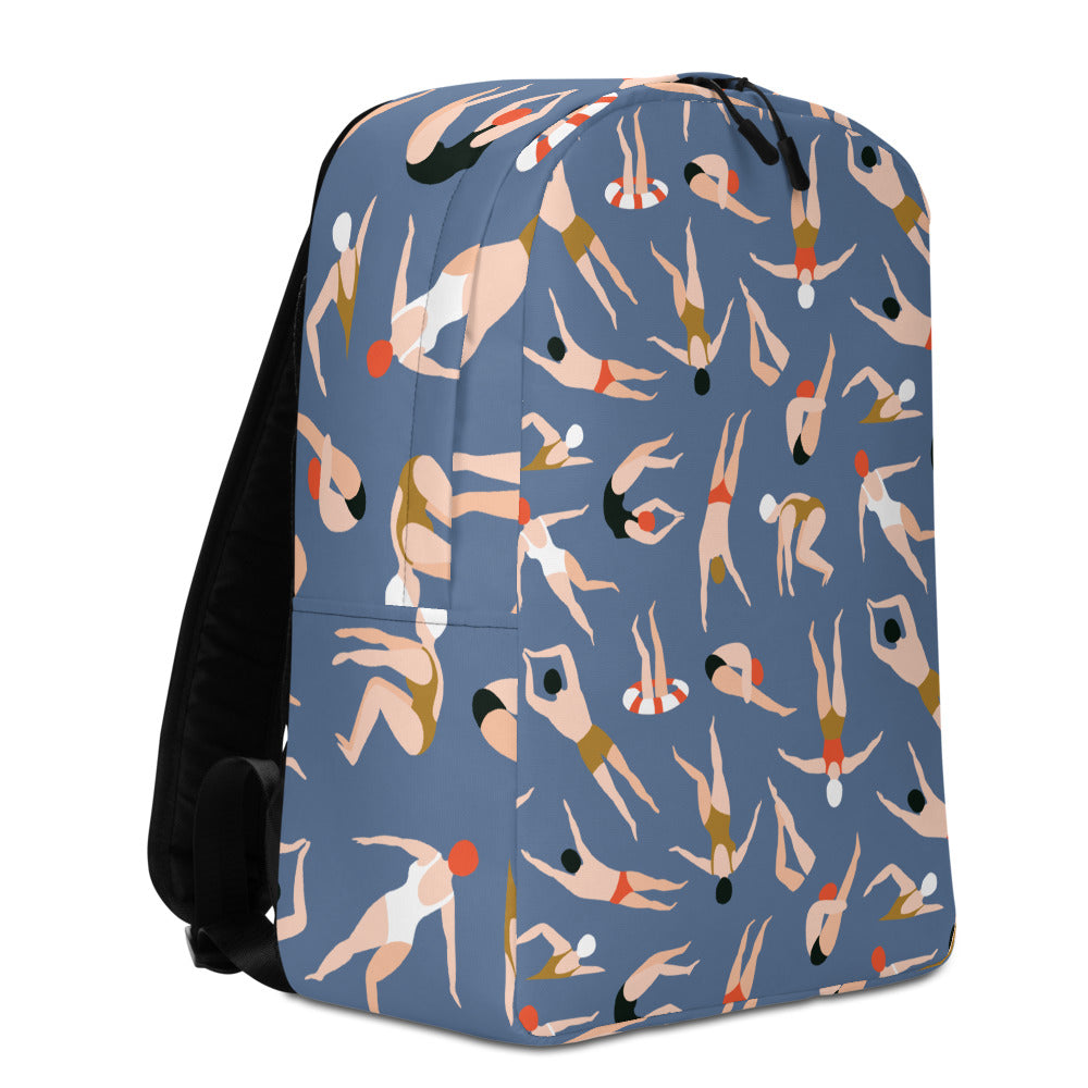 Vintage Swimmers Backpack | Dog & Shark | Funny Gift Ideas