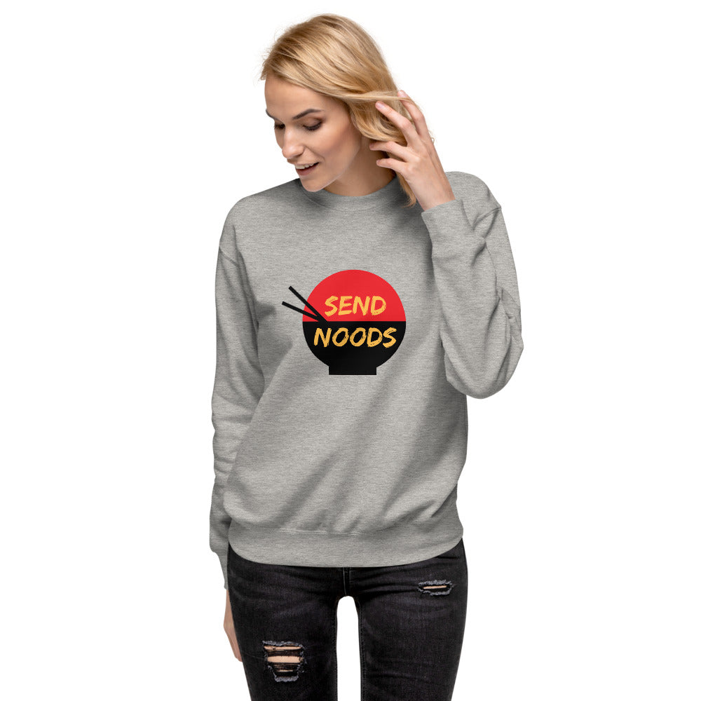 Send Noods Extra Comfortable Fleece Pullover | Dog & Shark | Funny Gift Ideas