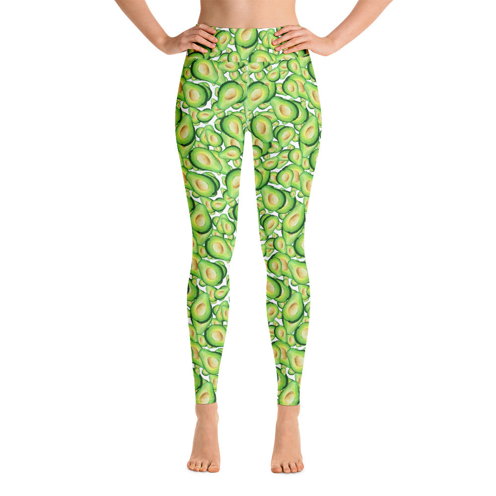 Avocados Everywhere Yoga Leggings | Dog & Shark | Funny Gift Ideas