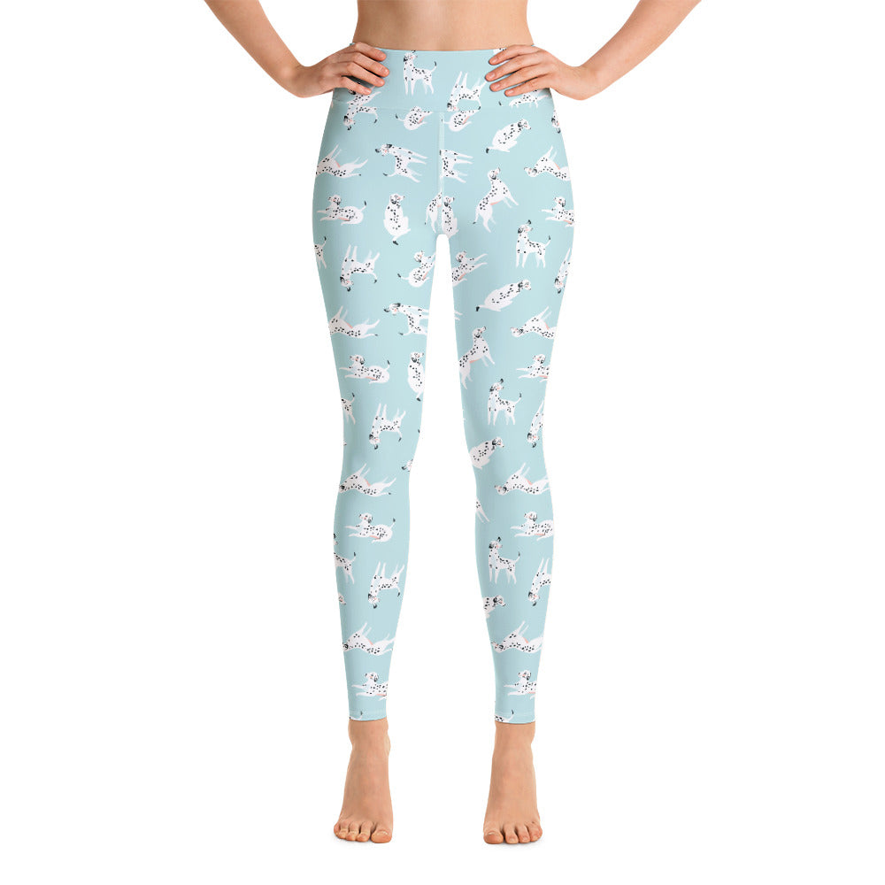Dalmatian Puppy Print Yoga Leggings | Dog & Shark | Funny Gift Ideas