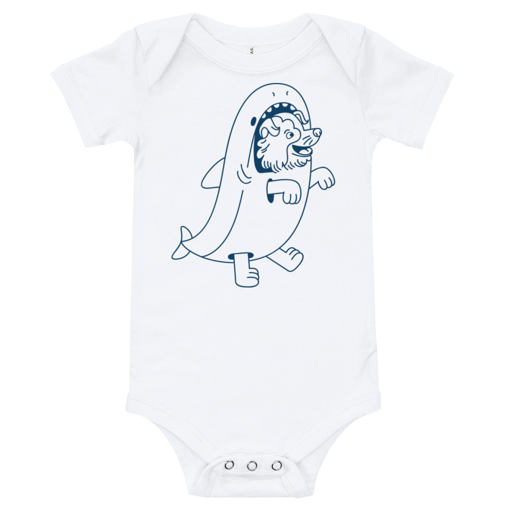 Dog and Shark Baby Onesie | Dog & Shark | Funny Gift Ideas