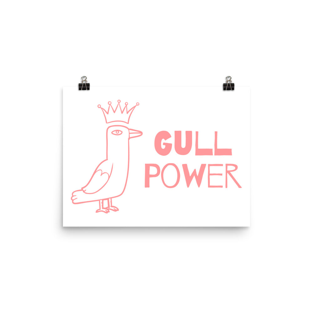 Gull Power Museum-Quality Art Print | Dog & Shark | Funny Gift Ideas