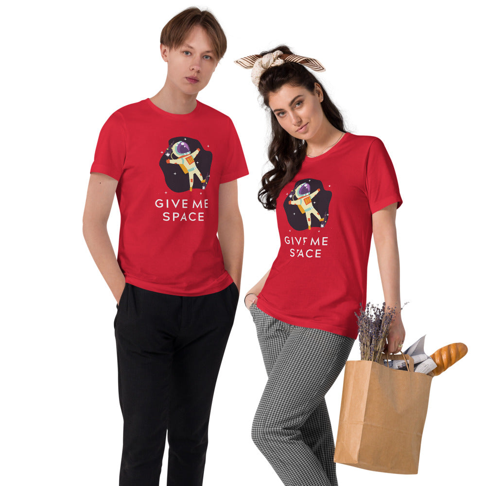 Give Me Space Organic T-Shirt | Dog & Shark | Funny Gift Ideas