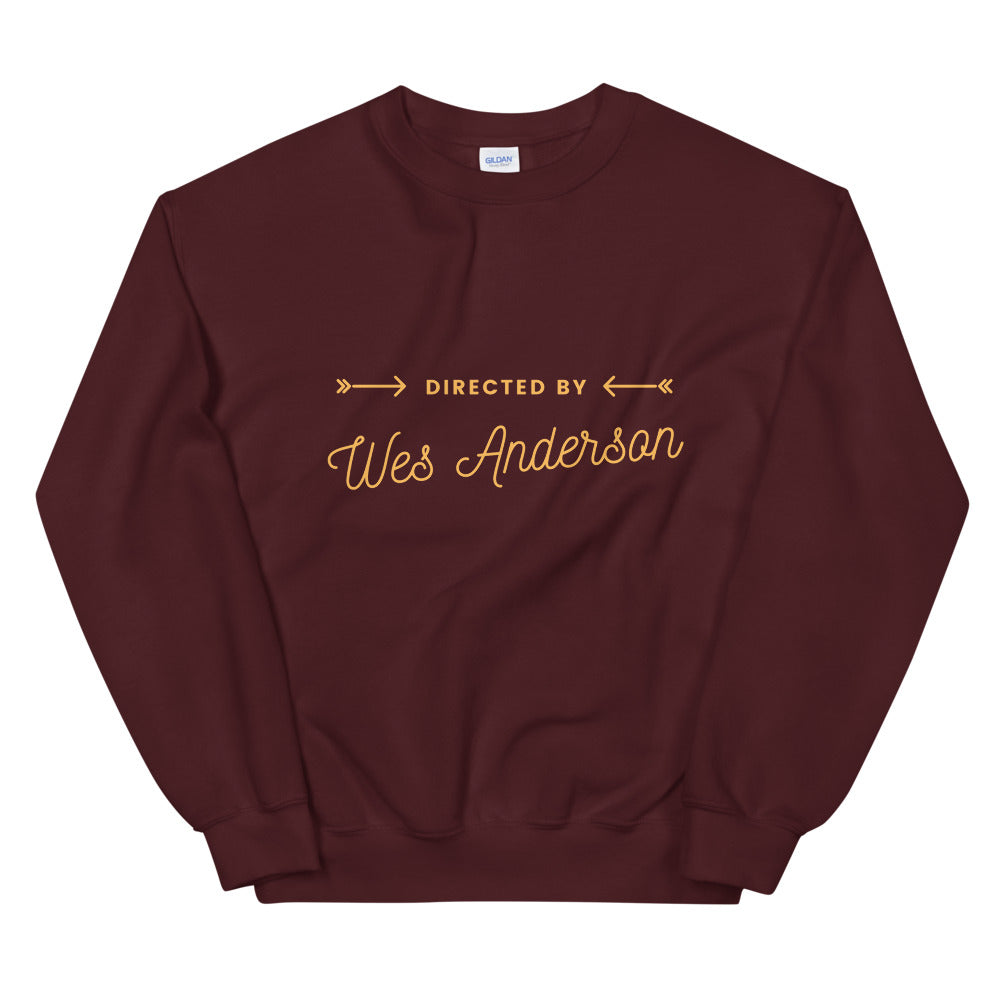 Directed by Wes Anderson Sweatshirt | Dog & Shark | Funny Gift Ideas