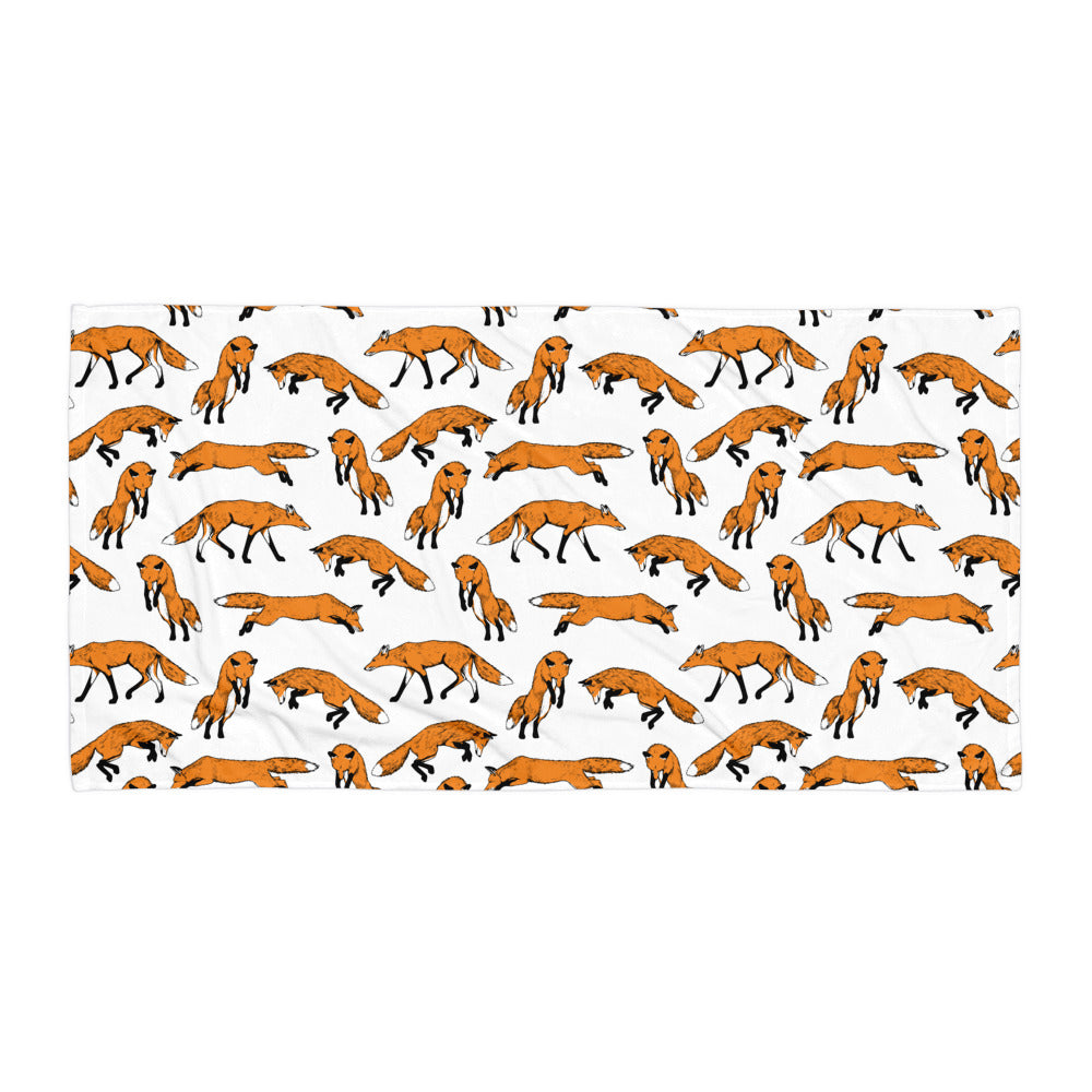 Fantastic Mr. Fox Beach Towel | Dog & Shark | Funny Gift Ideas