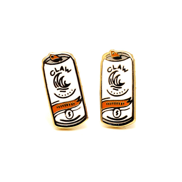 White Claw Match 22K Gold Earrings | Dog & Shark | Funny Gift Ideas