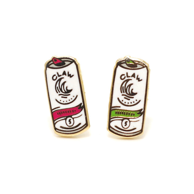 White Claw Mix 22K Gold Earrings | Dog & Shark | Funny Gift Ideas