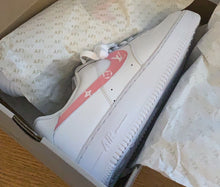 Load image into Gallery viewer, Pink LV Style - Air Force 1s