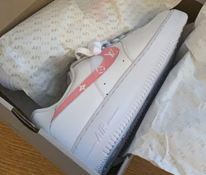 Pink LV Style - Air Force 1s