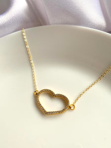 Diamanté Heart Necklace