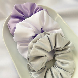 Bloom Satin Scrunchie Set