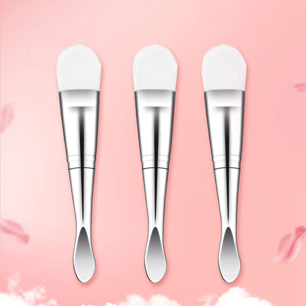 Double-ended Face Mask Brush with a spoon - 1PC