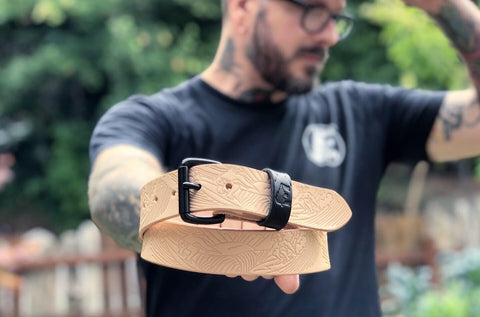 'Stamped Series' Minimalist Belt