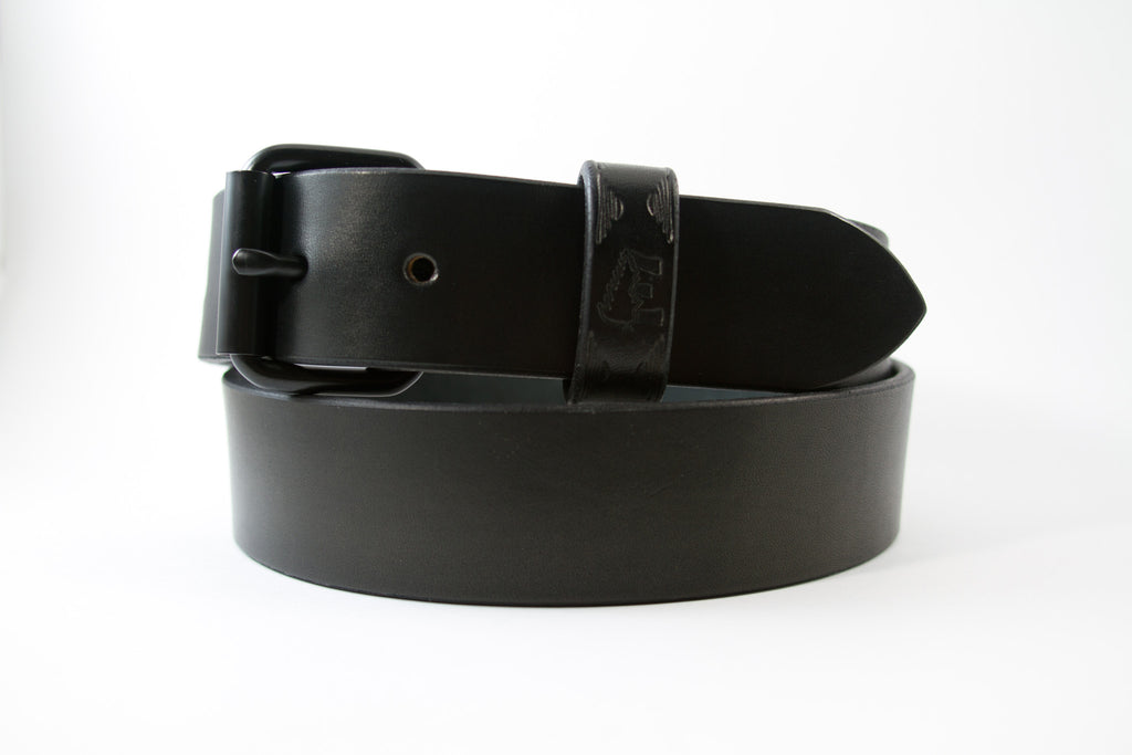 Black Minimalist Belt (Brass & Nickel Hardaware Available)