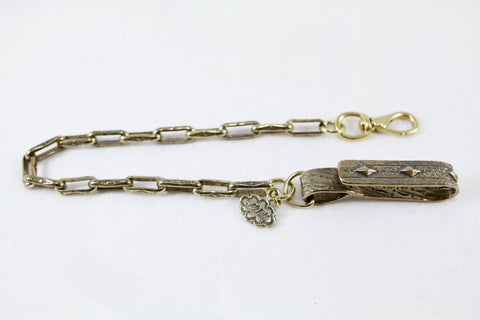 Tooled Chain Lanyard (Sterling or Brass)