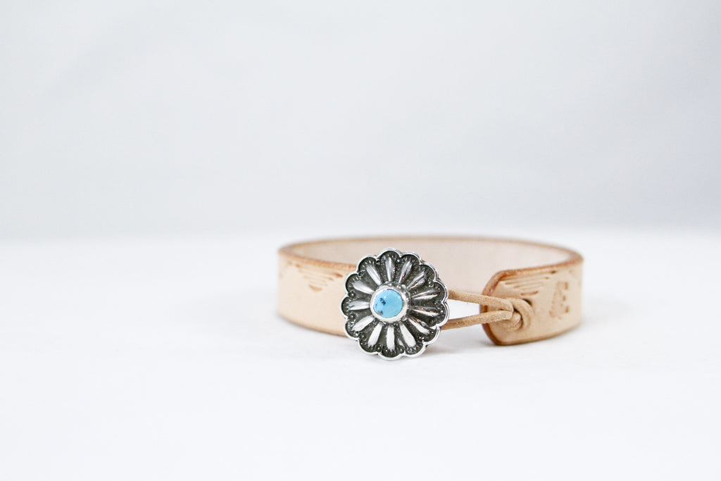 Turquoise Concho Cuff