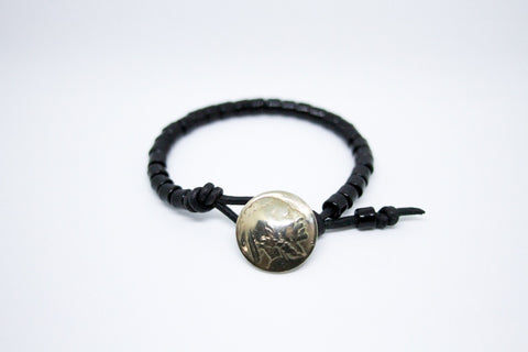Stealth Nickel Beaded Bracelet