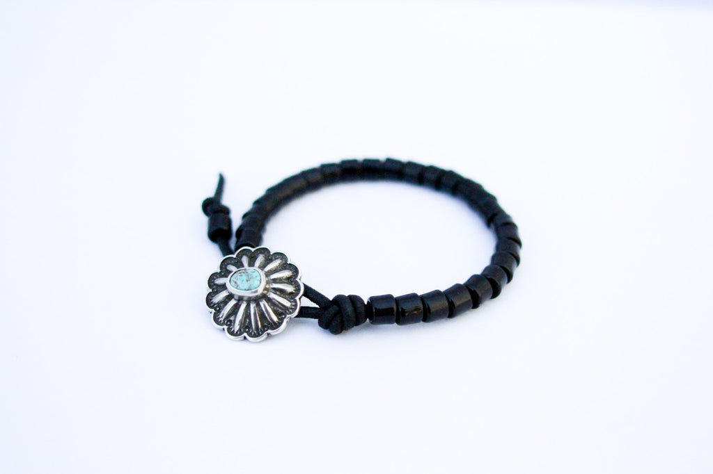 Stealth Concho Beaded Bracelet