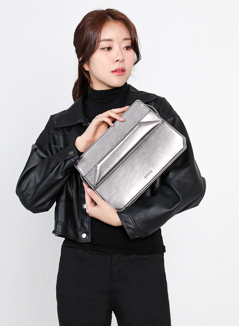 VLLR Box Bag (Dark Silver)