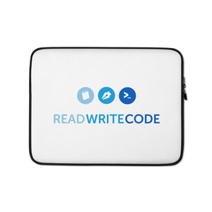 Read Write Code Laptop Sleeve