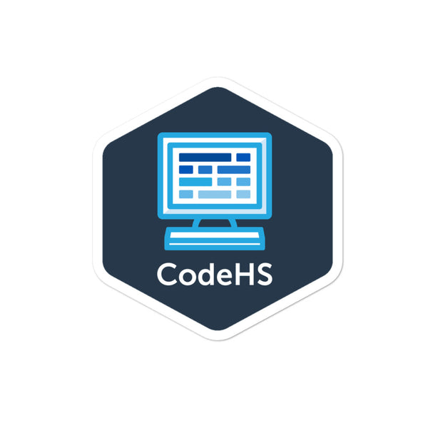 CodeHS Square Logo Blue Background Sticker