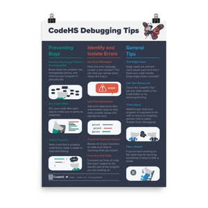 CodeHS Debugging Tips Poster