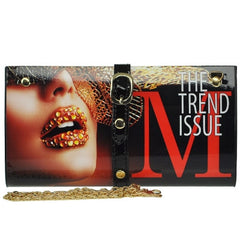 Magazine Print Design Clutch Wallet