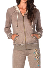 Miss Me Embellished Zip-Up Hoodie