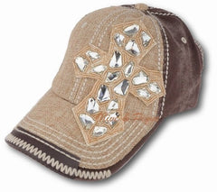 Olive & Pique Gemstone Cross Baseball Hat
