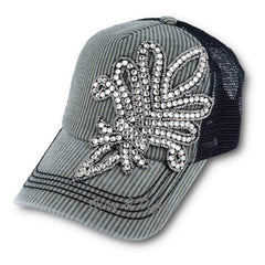 Olive & Pique XL Bling Fluer de Lis Trucker Hat