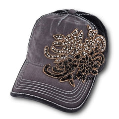 Olive & Pique Paisley Flower Two-Tone Ball Cap