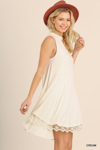 Sleeveless Keyhole Dress