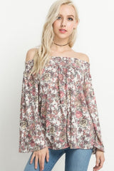 Off-The Shoulder Bell Sleeve Top