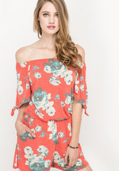 Self Tie Off The Shoulder Romper