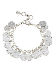 Lucky Brand Coin Bracelet in Silver