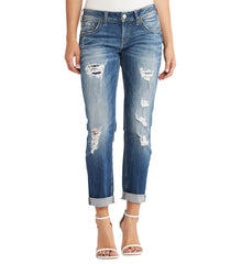 Silver Jeans Sam Medium Wash Boyfriend - L27140SJL250