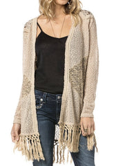 Miss Me Boho Beauty Fringe Cardigan