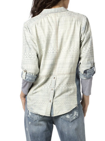 Miss Me Fade Away Chambray Top