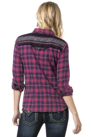 Miss Me Sweet Checkmate Flannel Top