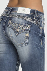 Miss Me Trail Blazer Mid-Rise Boot Cut Jeans