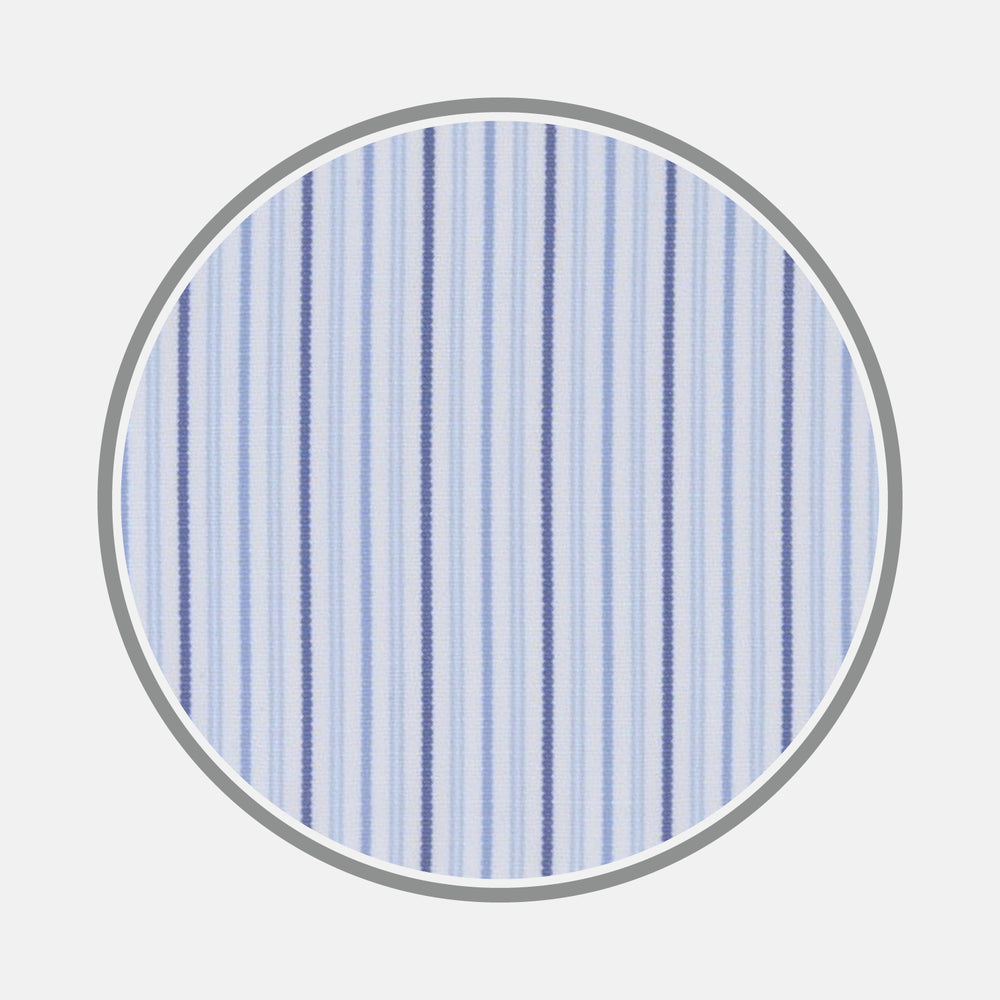 Blue Small Stripe Cotton Fabric