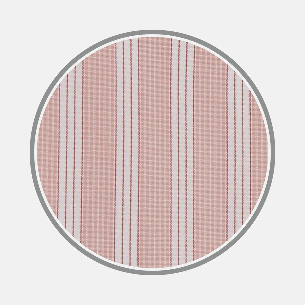 Pink and White Bold Stripe Cotton Fabric