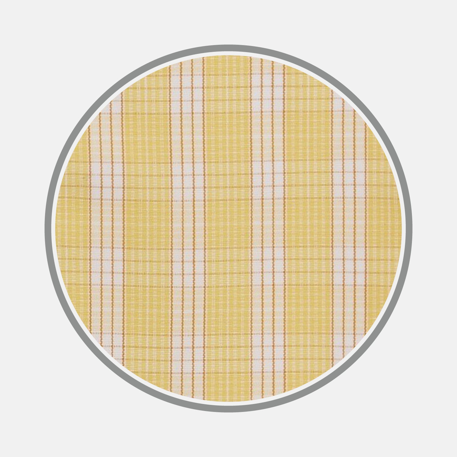 Yellow and White Bold Check Cotton Fabric