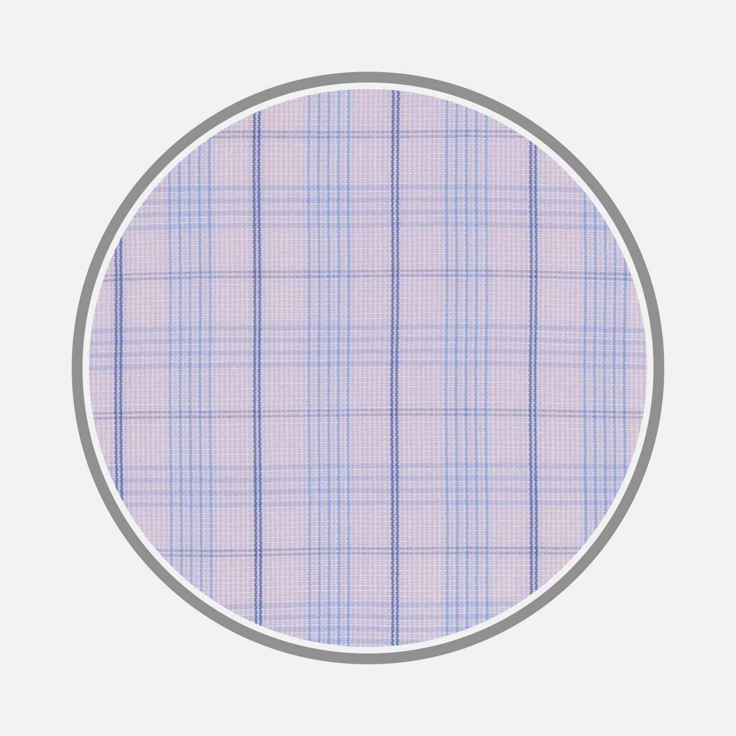 Pink and Blue Windowpane Check Cotton Fabric