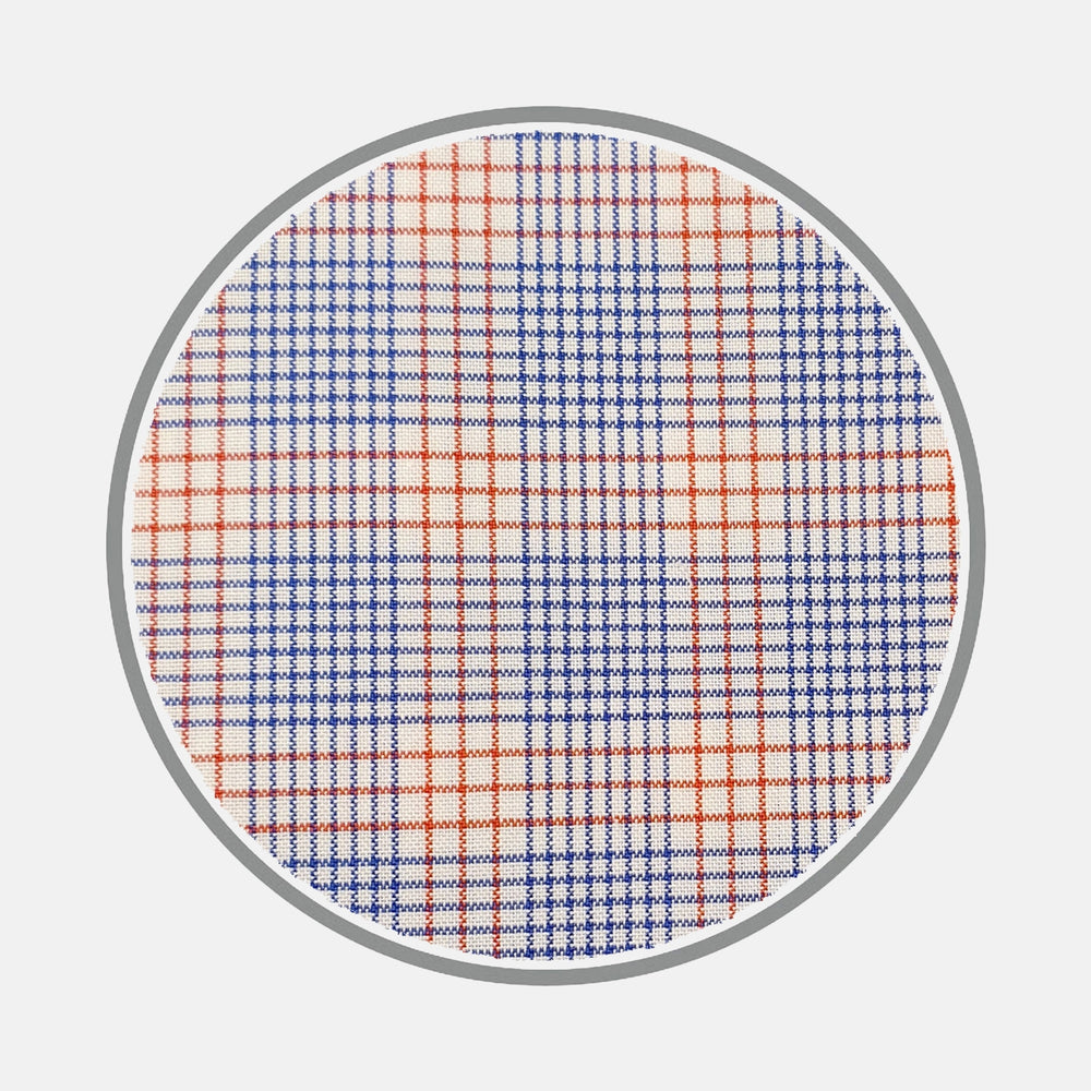 Blue and Red Multi Check Silverline Cotton Fabric