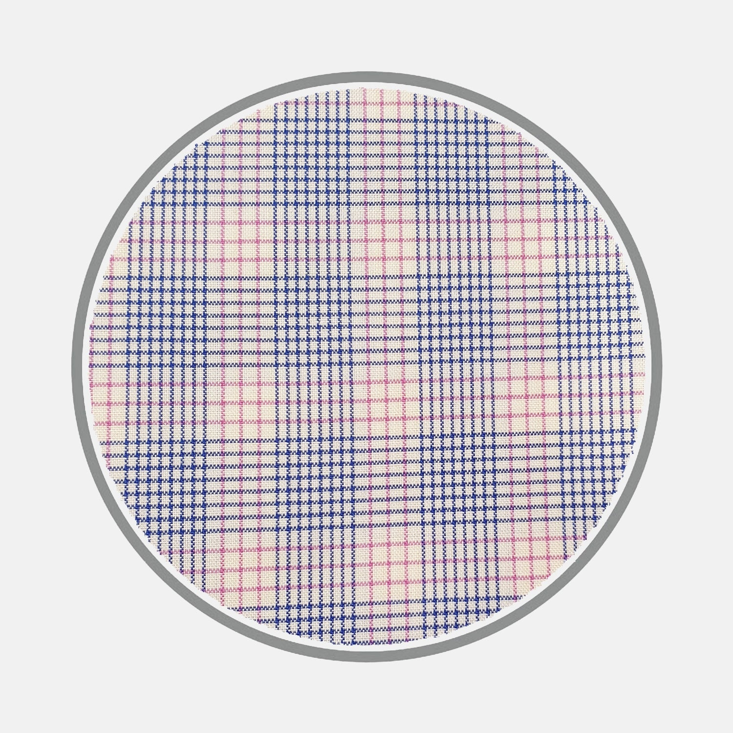 Blue and Pink Multi Check Silverline Cotton Fabric