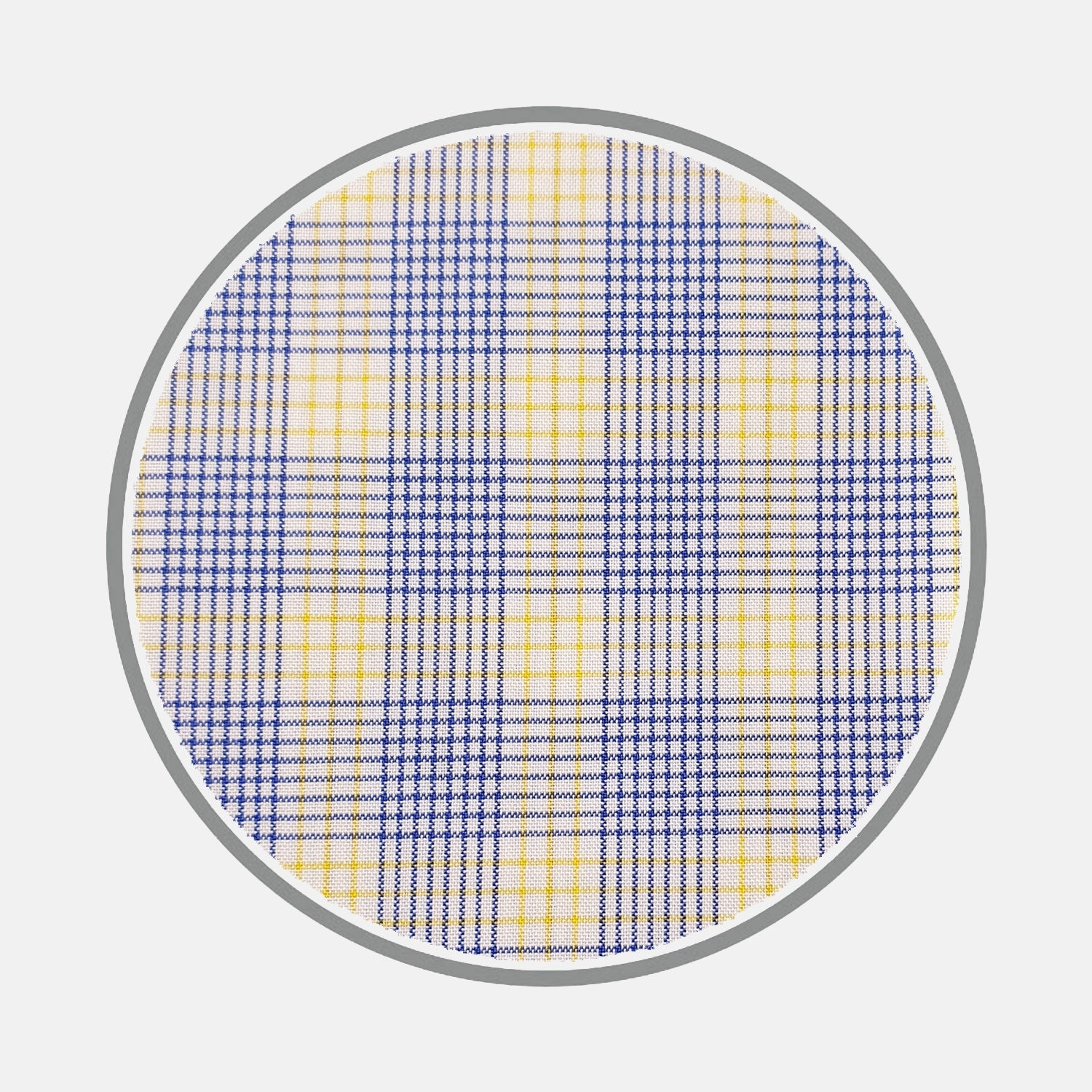 Blue and Yellow Multi Check Silverline Cotton Fabric