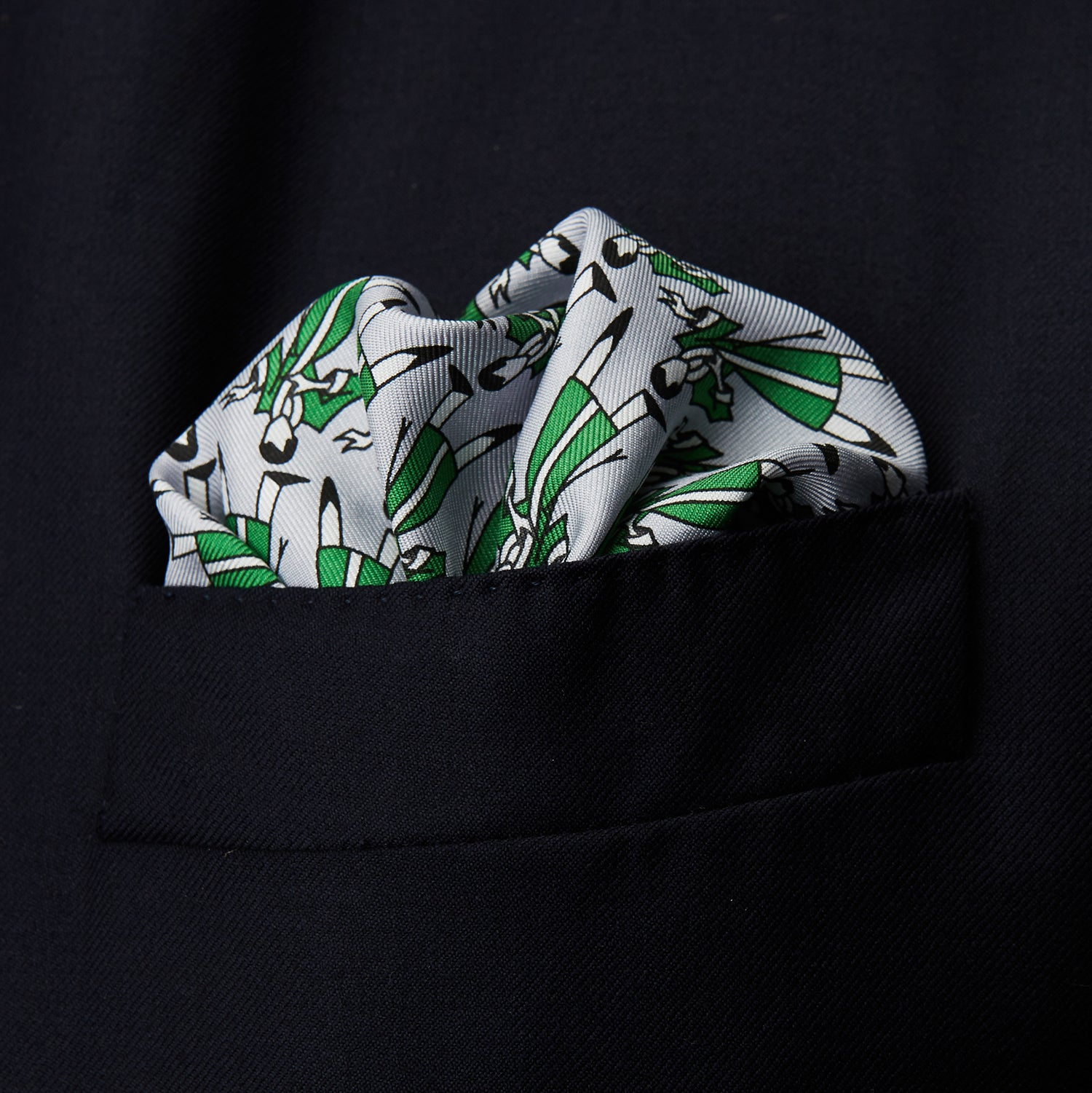 Green Dressing Gowns Pocket Square