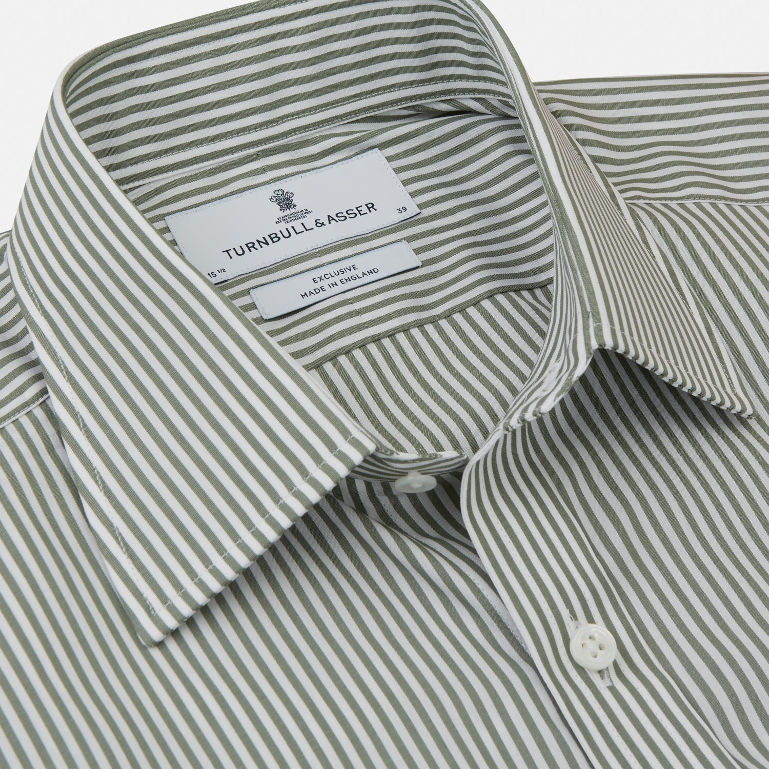 Green Bengal Stripe Regular Fit Shirt with T&A Collar and 3-Button Cuffs